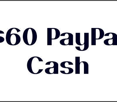 $60.00 PayPal Cash Giveaway
