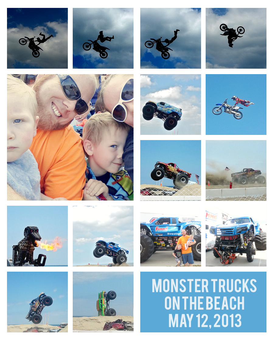 Monster Trucks on the Beach