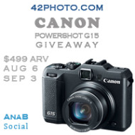 Canon G15 Camera Giveaway | 42nd Street Photo