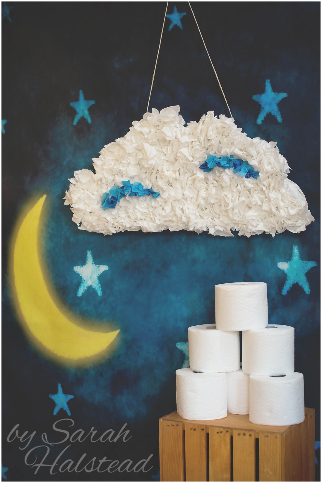 Diy cloud costume sarah halstead for How to make a paper cloud