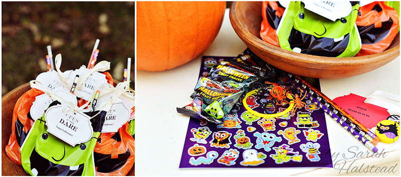 Halloween Treat Bags with Pear Tree Greetings