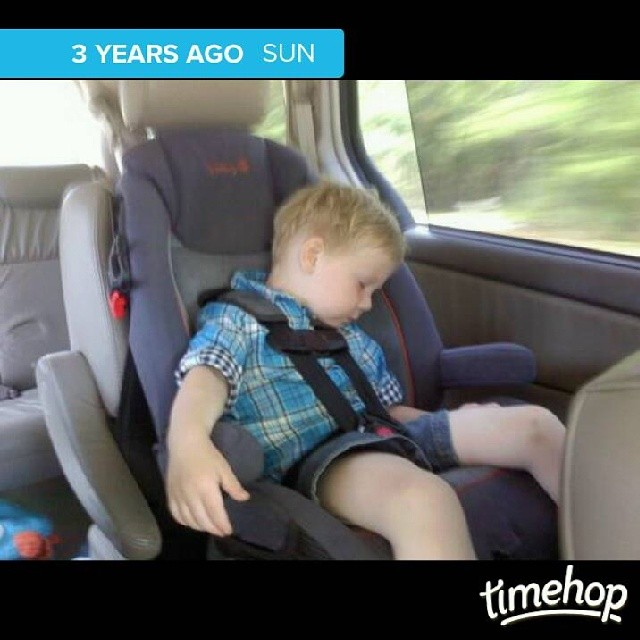 3 years ago. Dustyn was so tiny.