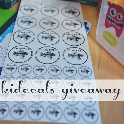 School Labels from kidecals + Giveaway