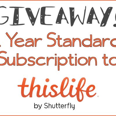 ThisLife by Shutterfly + Giveaway