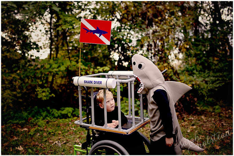 Shark Diver Wheelchair Costume | Halloween 2014