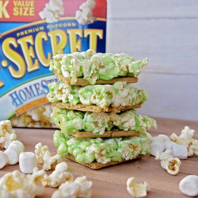 Key Lime Pie Popcorn Bars with Pop Secret