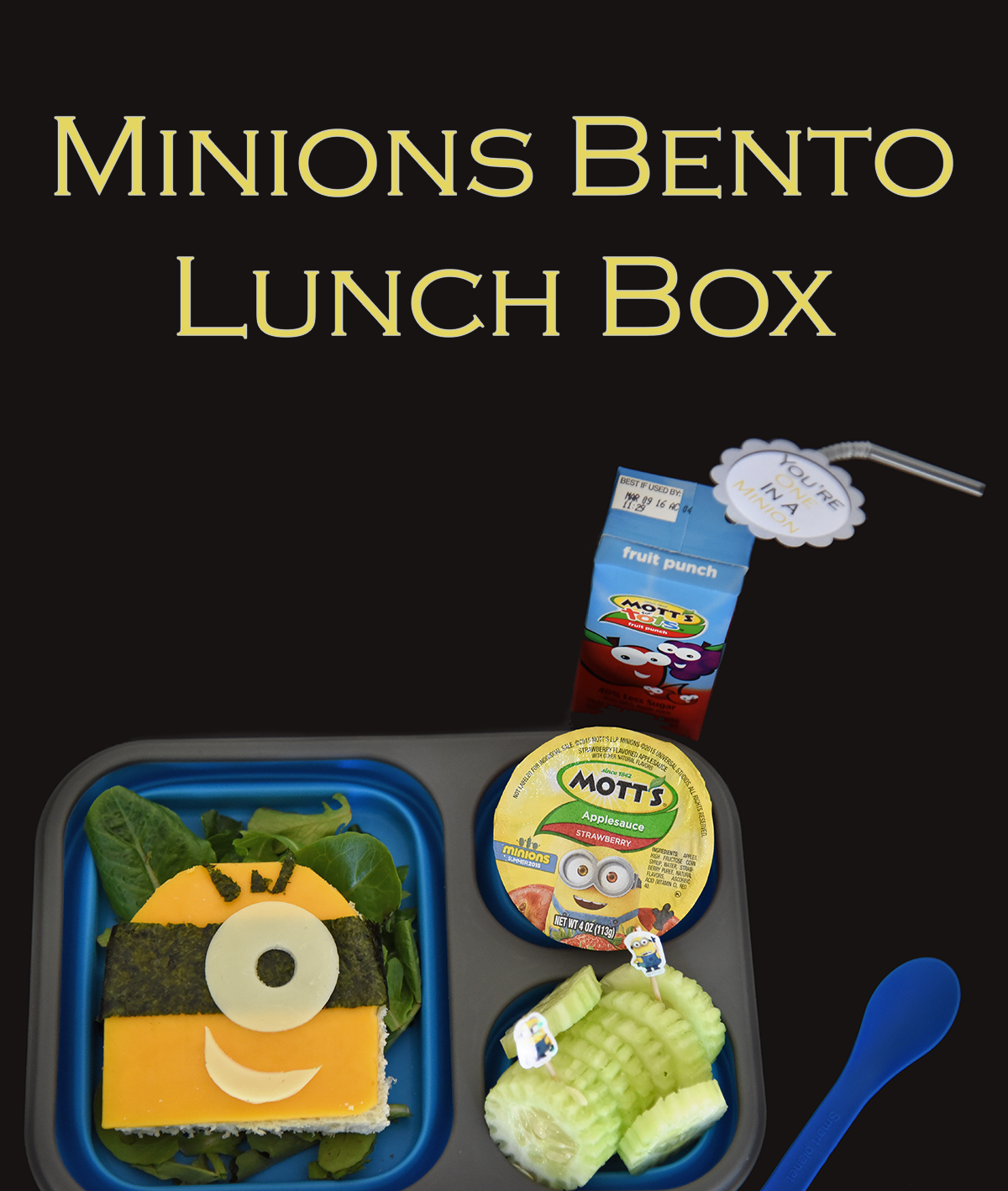 minions bento lunch box. Black Bedroom Furniture Sets. Home Design Ideas