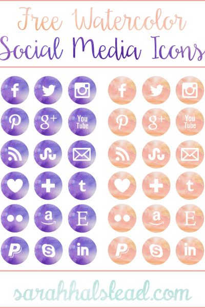 Free-Watercolor-Social-Media-Icons