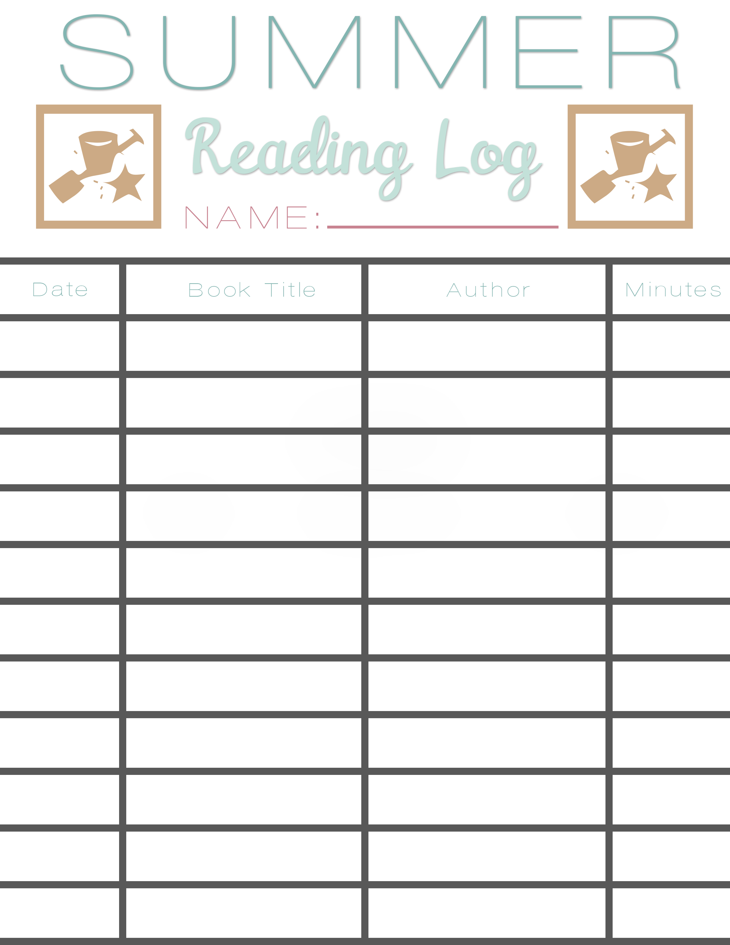 summer reading log template summer reading log earn free books sarah halstead