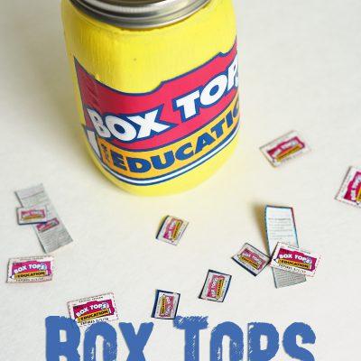 Box Tops Collection Jar