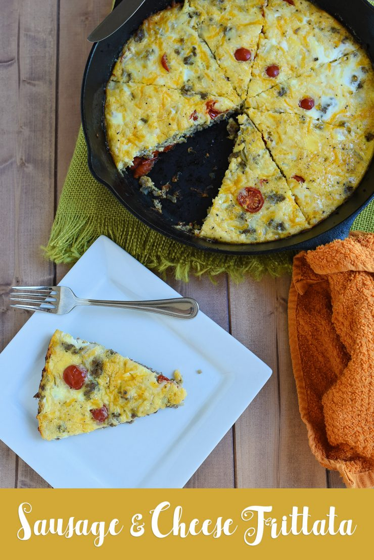 Sausage and Cheese Frittata | Whimsy & Hope