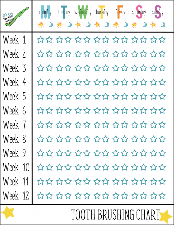 Pics Photos - Tooth Brushing Chart Free Printable