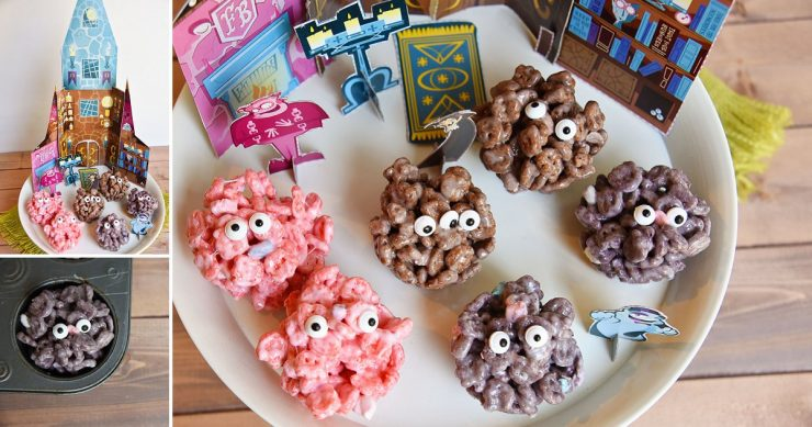 Monster Marshmallow Cereal Treats | #SpooktacularSnacks #CollectiveBias #Ad