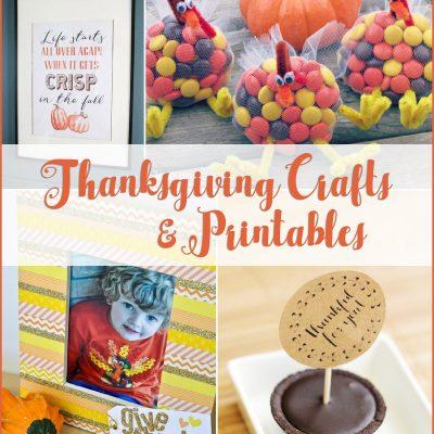 Thanksgiving Crafts & Printables