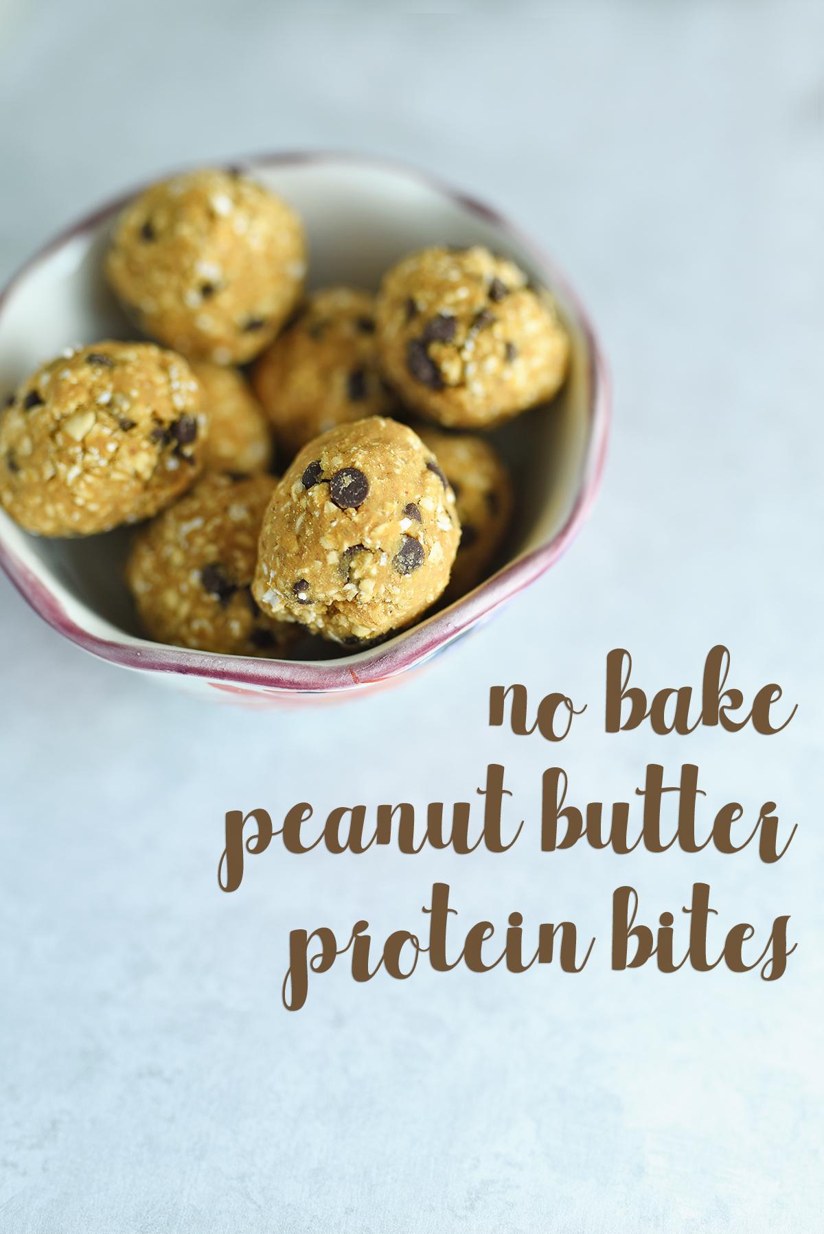 No Bake Peanut Butter Bites