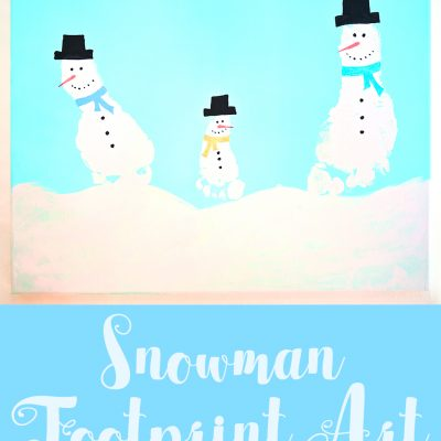 Snowman Footprint Art