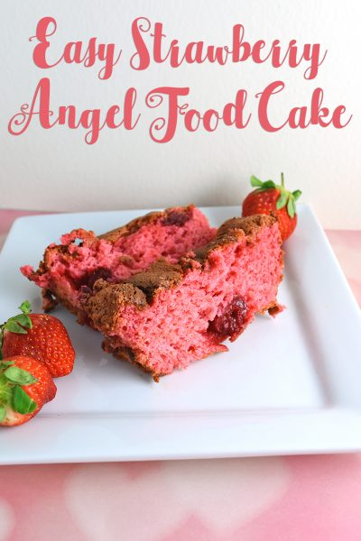 Easy Strawberry Angel Food Cake