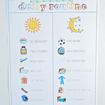 Back To School Prep   The Daily Routine