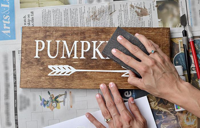 Pumpkin Sign Tutorial