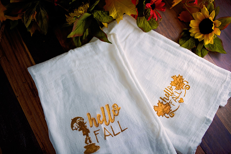 Diy Fall Themed Kitchen Towels Sarah Halstead