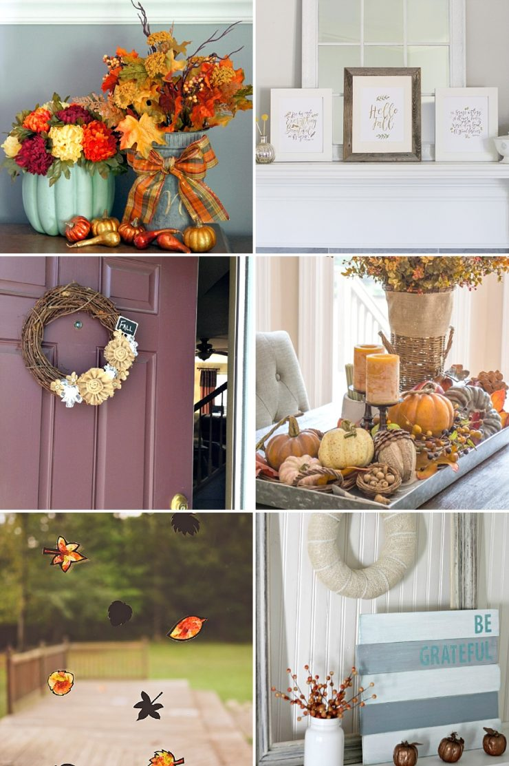 Fall home decor ideas sarah halstead for Fall home decor