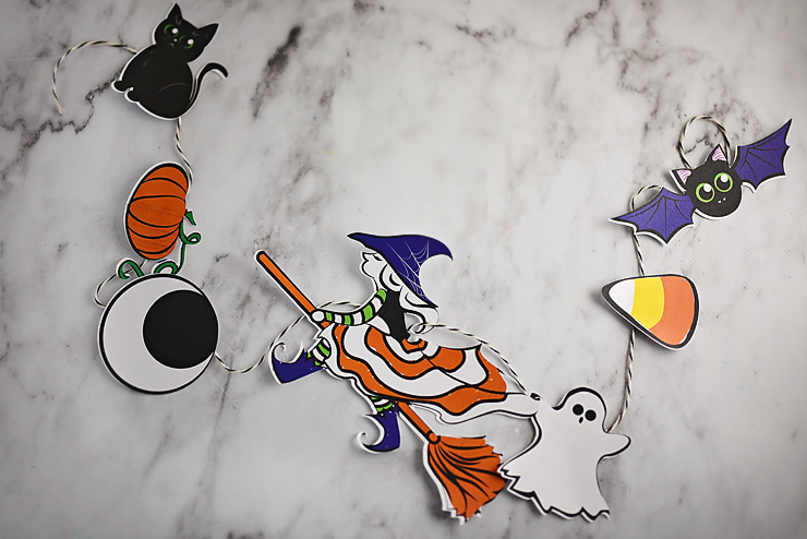 Halloween garland with free graphics 30 fun ideas for fall for Halloween girlande
