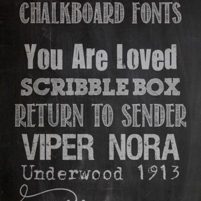 Favorite Free Fonts & a Free Chalkboard Download