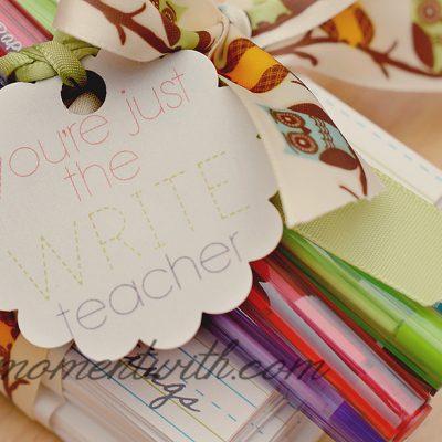you're just the Write teacher free printable