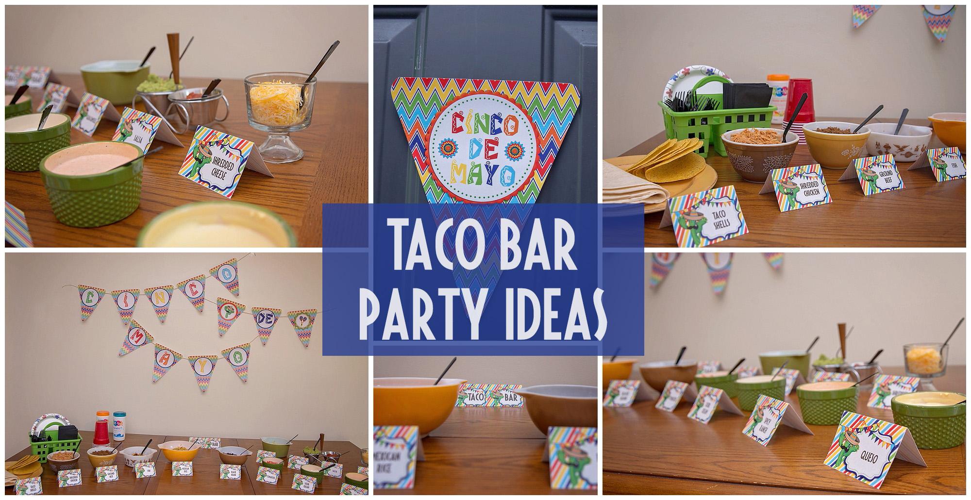 Taco Bar Party Ideas By Sarah Halstead