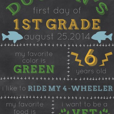 Custom First Day of School Sign