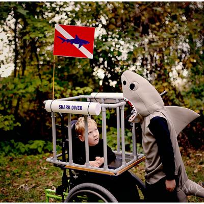 Shark Diver Wheelchair Costume | Halloween 2014