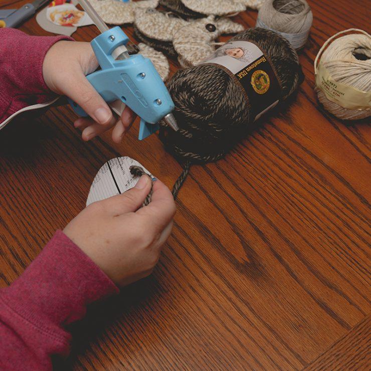 Yarn Wrapped Bird Ornament | DIY Tutorial