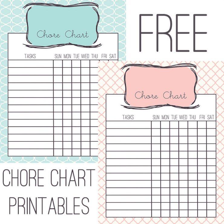 Chore Chart Free Printable
