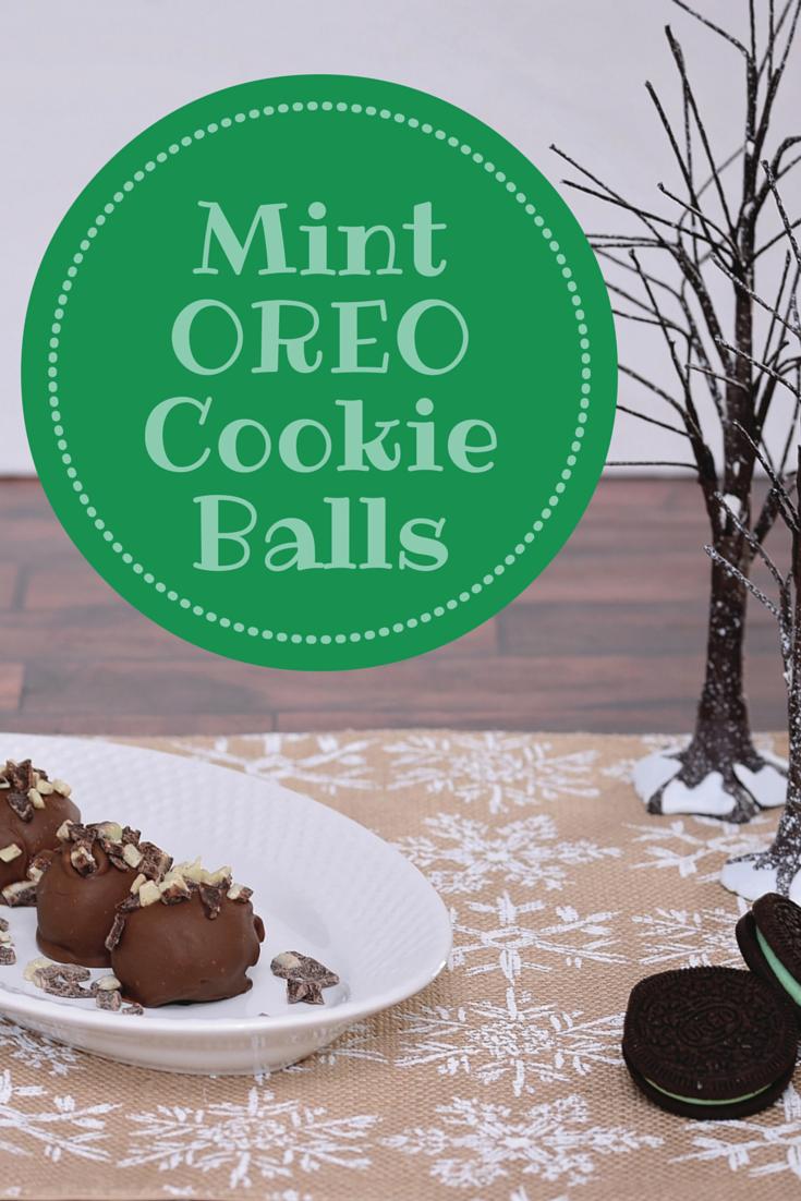 Mint OREO Cookie Balls | #CollectiveBias #OREOCookieBalls #ad