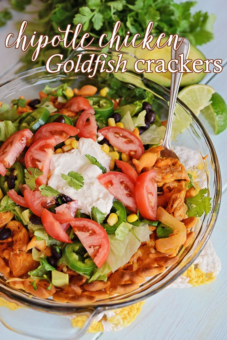 Chipotle Chicken Goldfish crackers | #ad #GoldfishMix #CollectiveBias