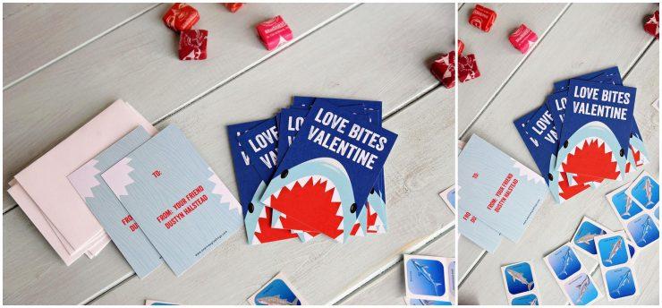 Custom Classroom Valentines | Shark Valentines