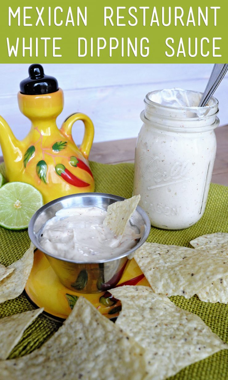 White Dipping Sauce At Mexican Restaurants