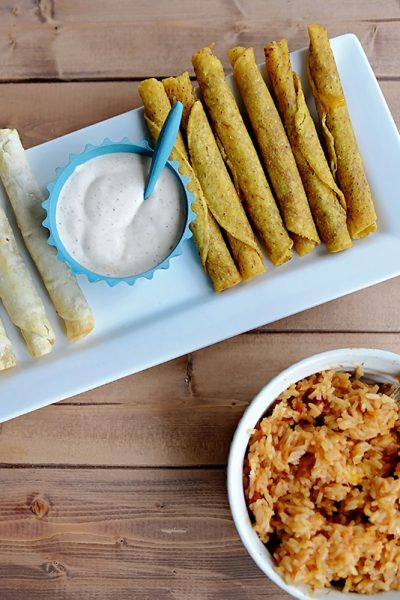 Mexican Rice Recipe & Taquitos for Game Day