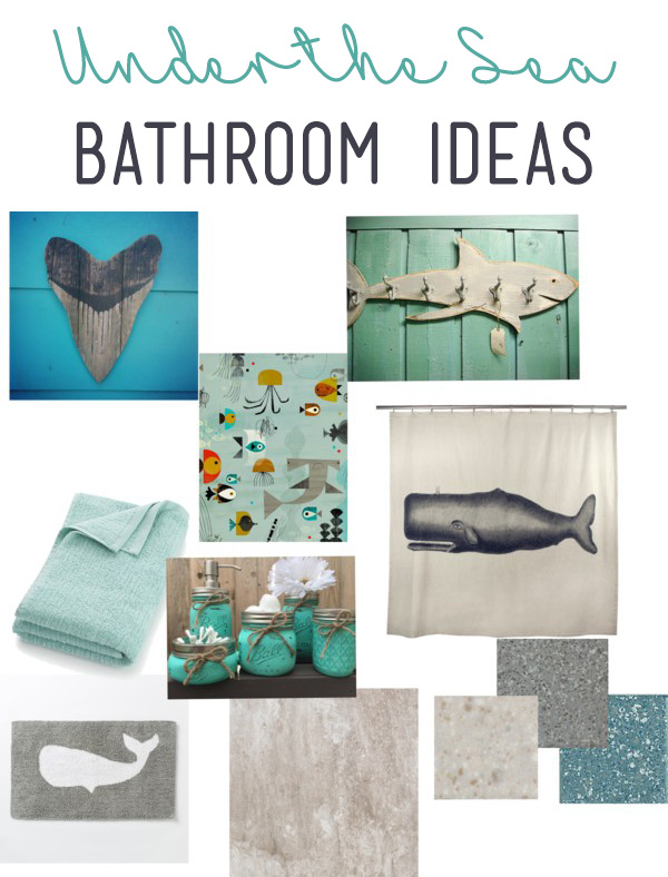 Under the Sea Bathroom Ideas with Carpet One | #InspiredHome #CollectiveBias #ad