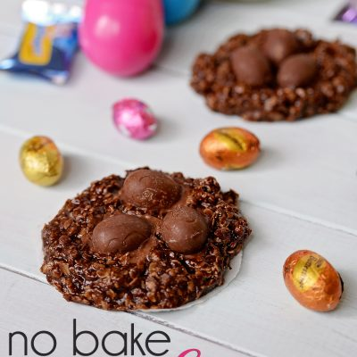 No Bake Easter Nest Cookies
