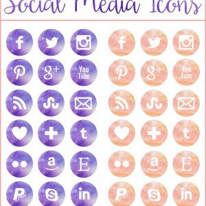 38-Free-Watercolor-Social-Media-Icons