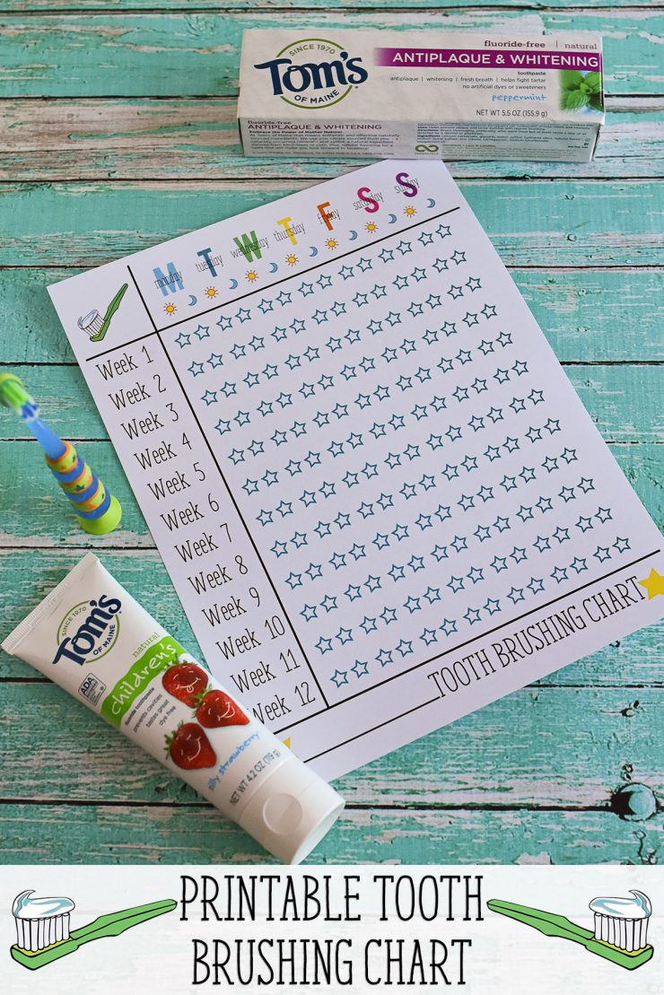 picture relating to Printable Tooth Brushing Charts identified as Enamel Brushing Chart Sarah Halstead