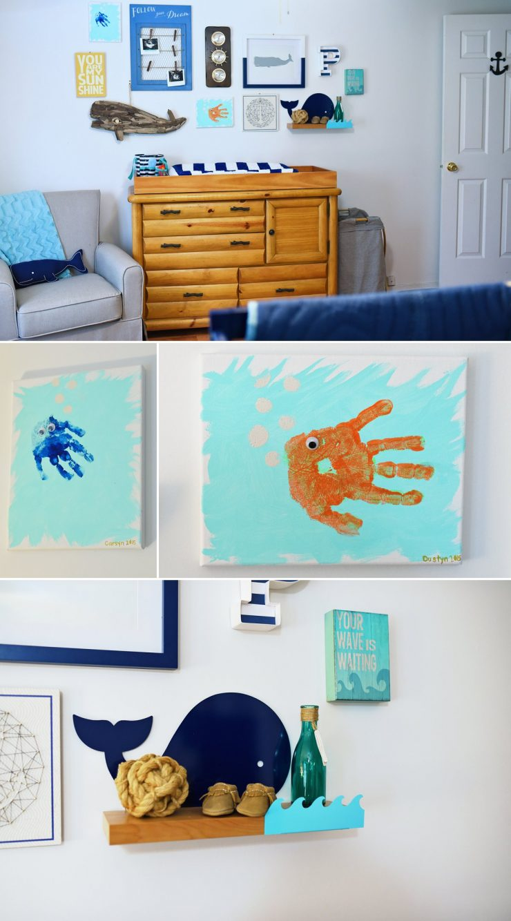 Whale Themed Nursery Gallery Wall
