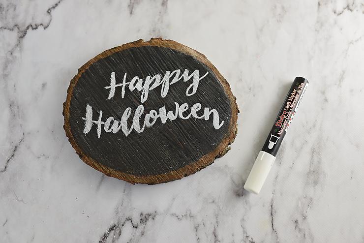 Wood Slice Chalkboard & Lettering Tutorial