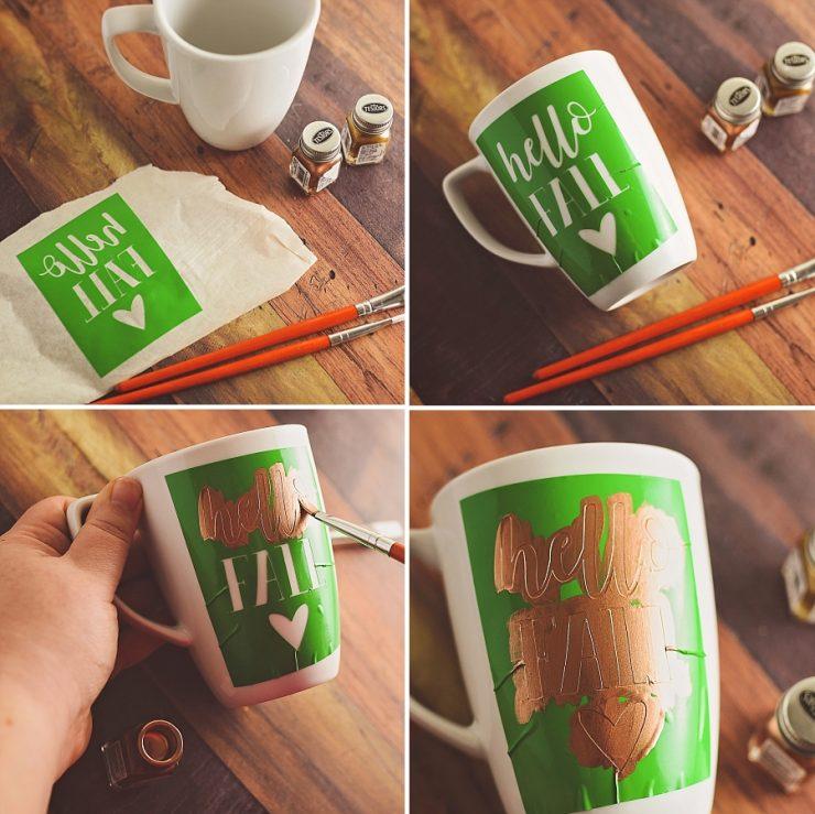 DIY Painted Mug Tutorial