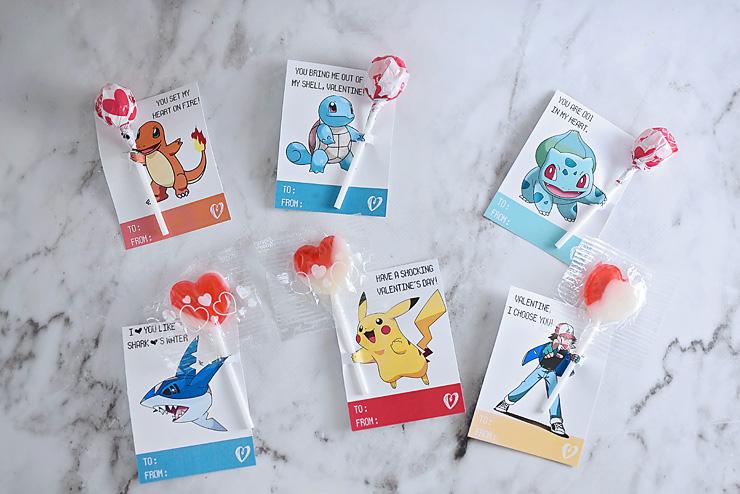 Pokemon Valentine's Day Cards