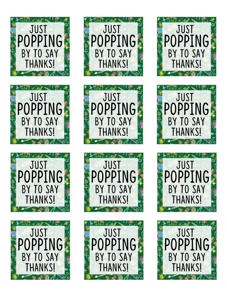 picture about Thanks for Popping by Free Printable named Instructor Appreciation Reward Strategy No cost Printable Sarah Halstead
