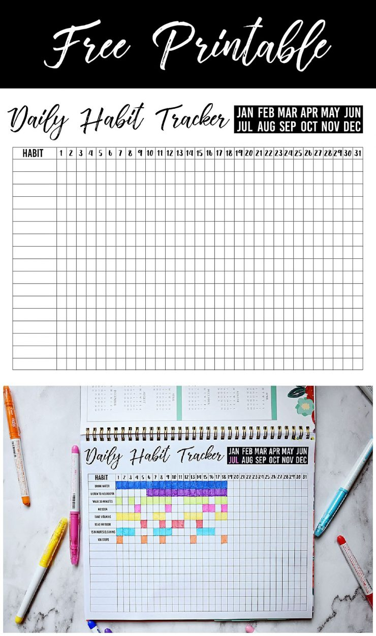 Free Printable Daily Habit Tracker