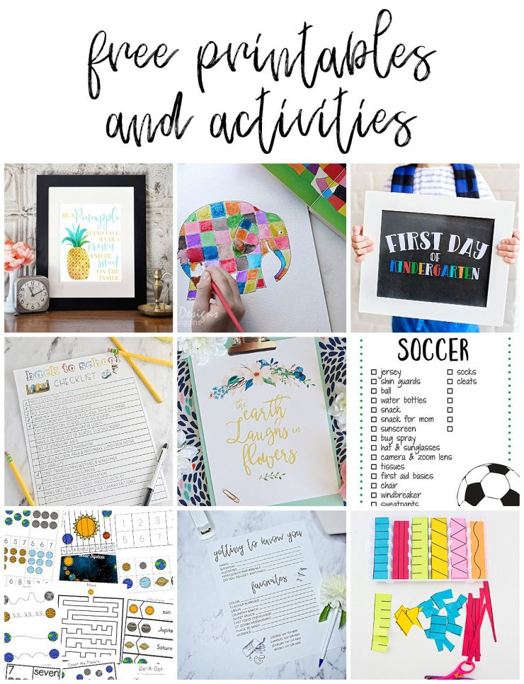 Free Printables and Activities