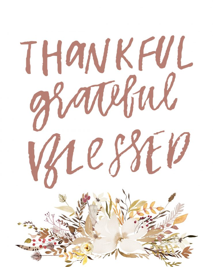 picture about Thankful Printable named Grateful Thankful Lucky Free of charge Printable Sarah Halstead